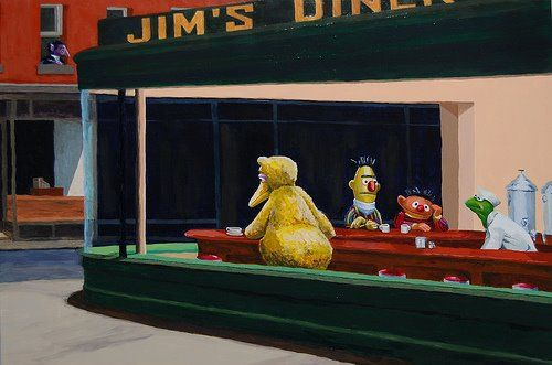 44387-star-wars-stormtroopers-parody-nighthawks-at-the-din ... |Nighthawks Star Wars
