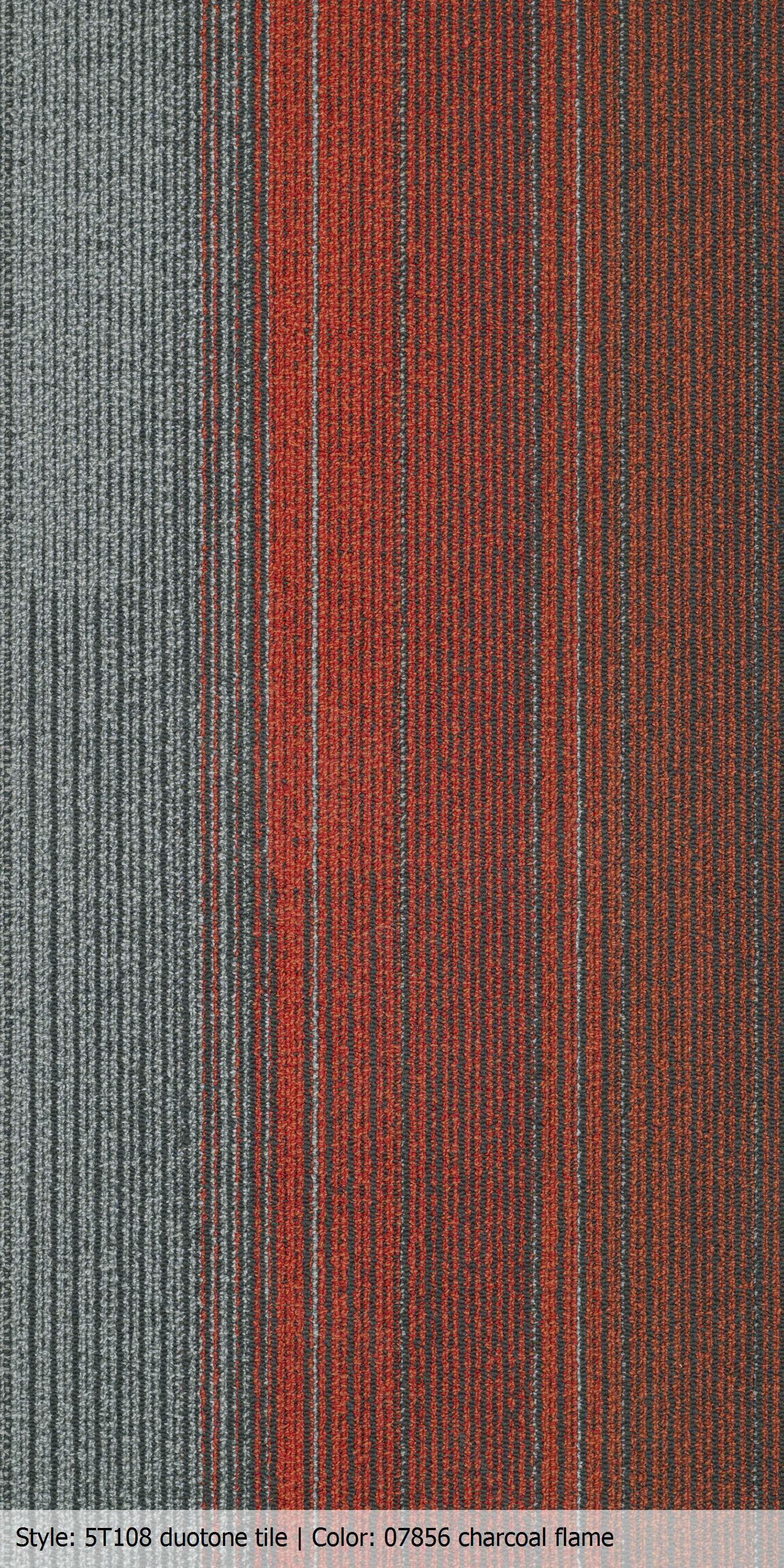 Carpet Tile 18x36 Duotone Color Charcoal Flame Pr Trading