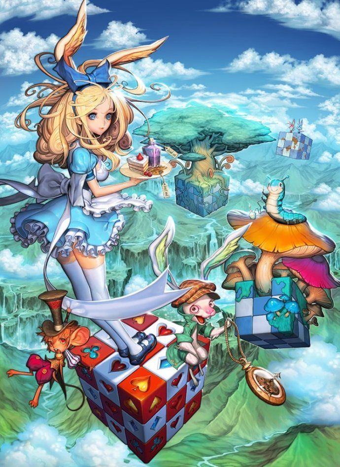AweSomEilluStrationS Alice in Wonderland 韩国画插大师