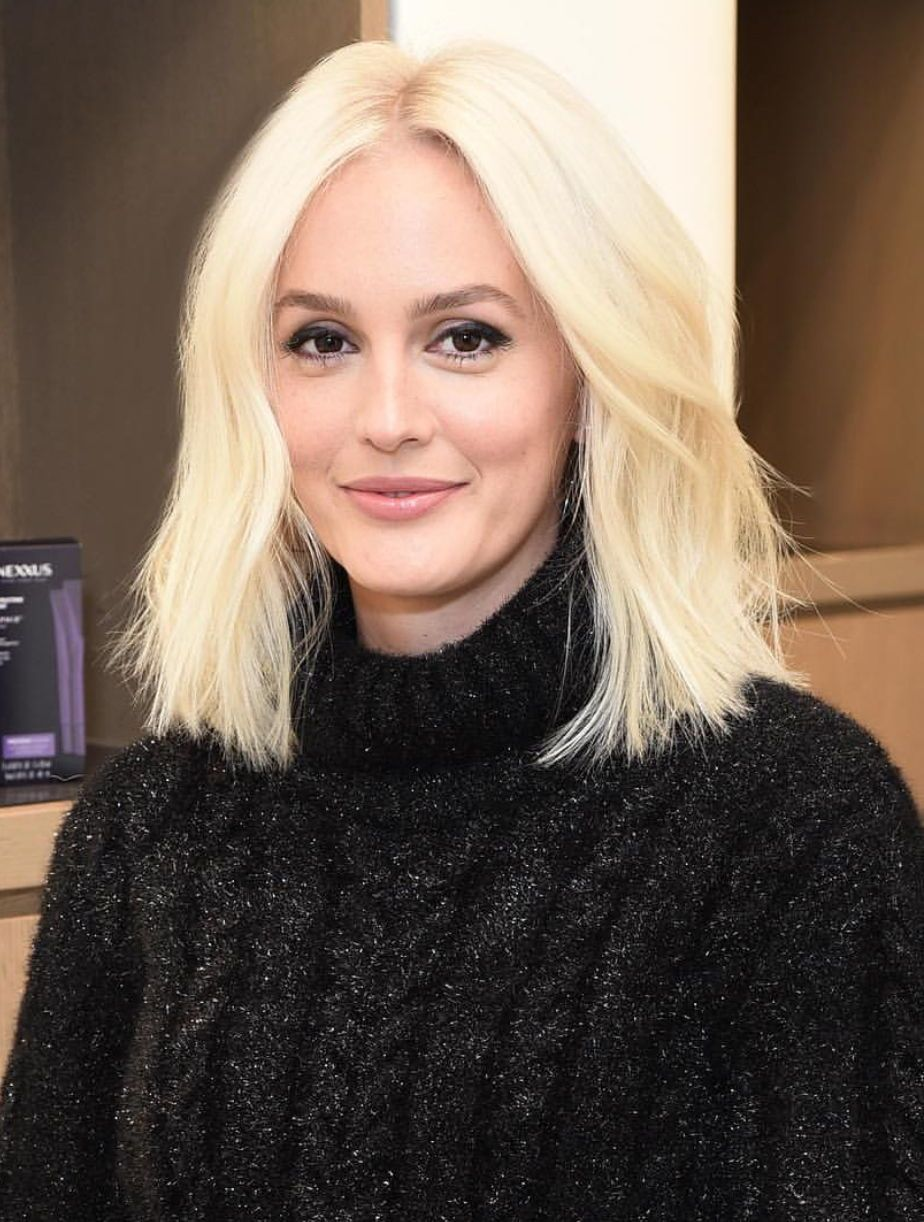 Leighton meester with platinum blonde hair color # ...