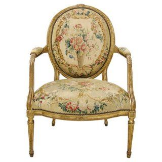 Louis XVI Chair With Oval Back, Louis Xvi Tapered Leg, Rectilinear Form,  Upholstery