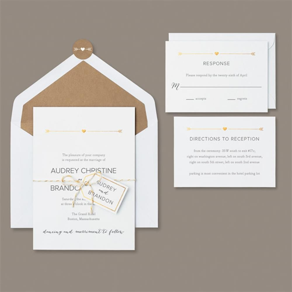 free templates for wedding response cards%0A Brides Gold Refined Rustic   count Invitation Kit