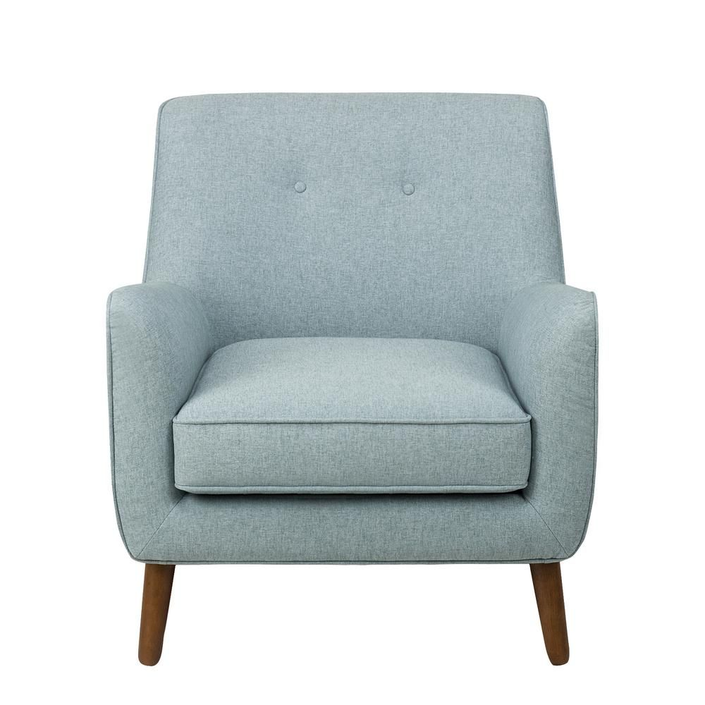Best Homepop Brushed Light Blue Modern Tufted Accent Chair 400 x 300