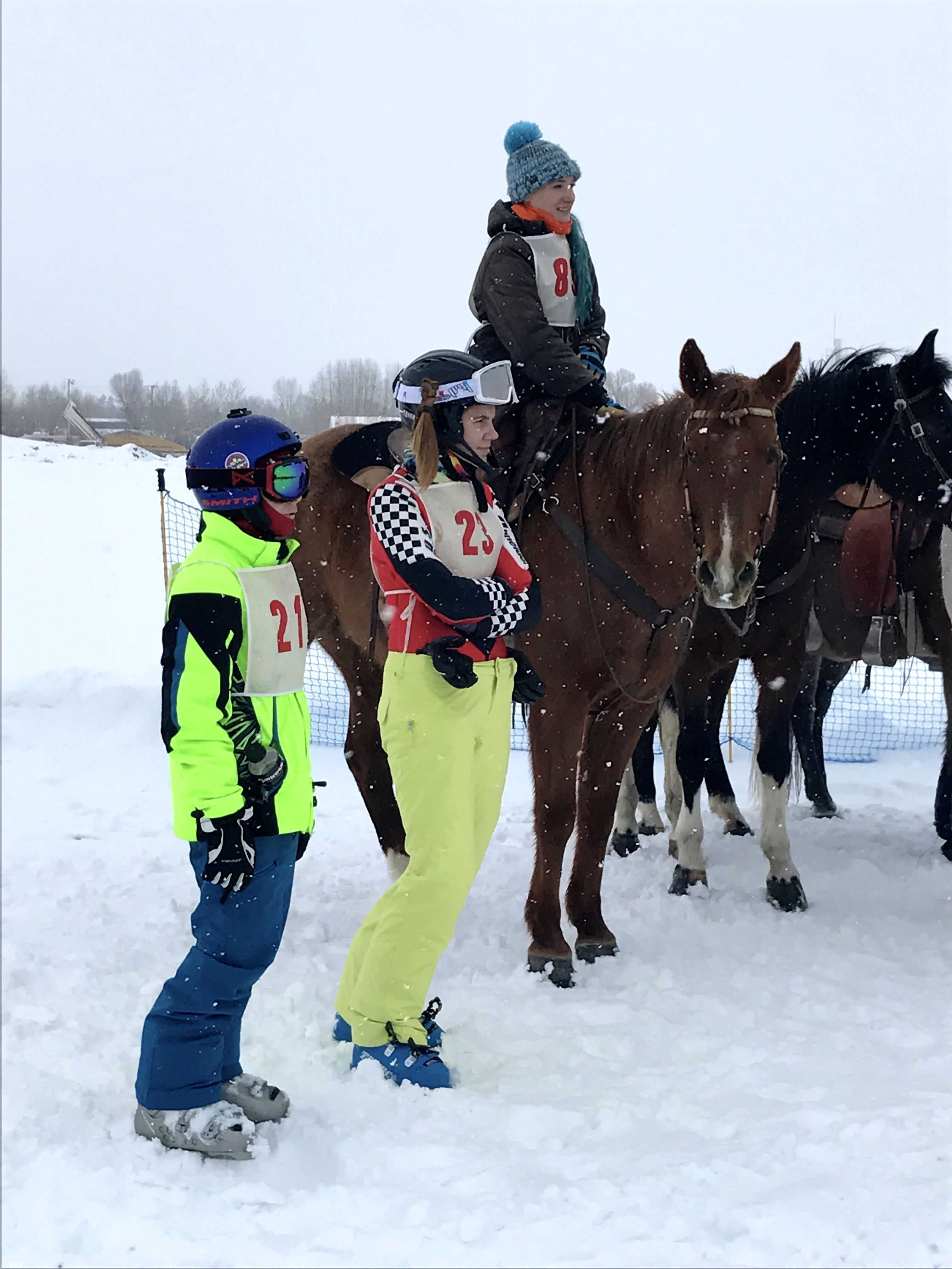 Competitors at Pinedale Winter Carnival @2017 Skijor International, LLC