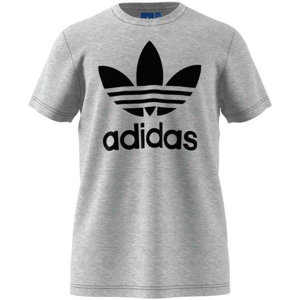 136c74601 Adidas Originals Trefoil T-Shirt - Short-Sleeve ($30) ❤ liked on Polyvore  featuring men's fashion, men's clothing, men's shirts, men's t-shirts, mens  short ...