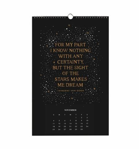 Rifle Paper Co  Inspirational Quotes Wall Calendar  Quote