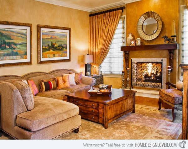 Italian Wall Art For Living Room : Tuscan living rooms on dining