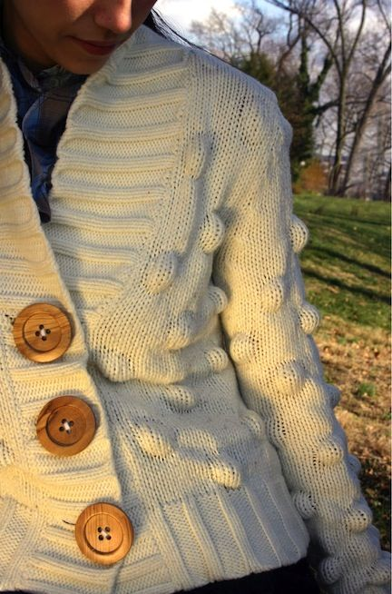 refashion-a-sweater: I wonder if adding oversized buttons could ...