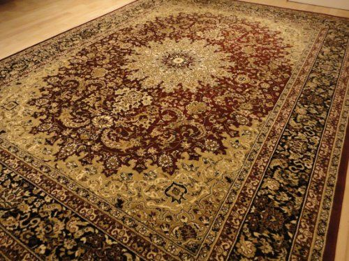 Large 5x8 Burgundy Black Isfahan Area Rug Oriental Carpet 6x8 Rug AS  Quality Rugs Http: