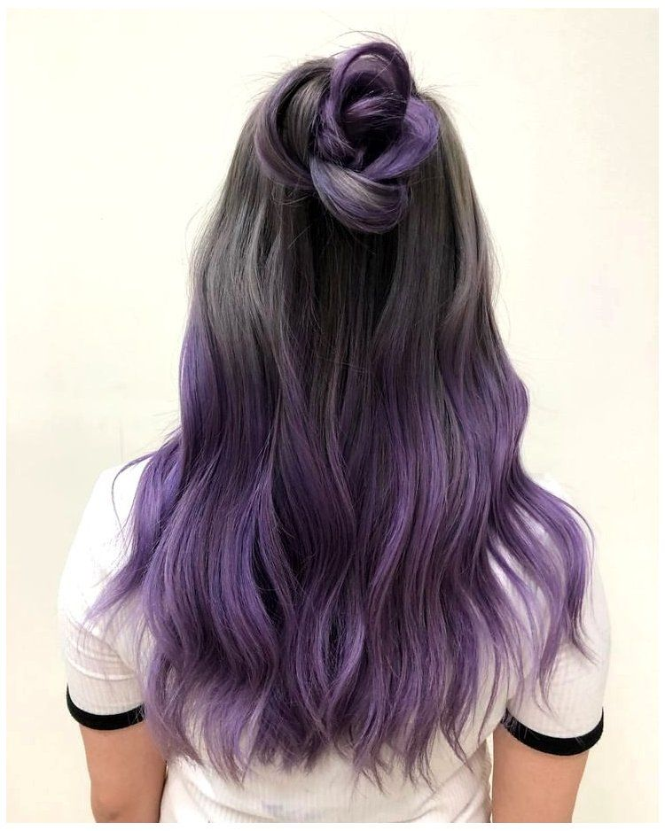 100 Best Hairstyles For 2020 8171 Short Hair Updo Shorthairupdo Here Are The 100 Best Hair Trends For The Yea In 2020 Dip Dye Hair Hair Styles Dyed Hair Purple