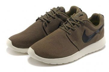 Nike Roshe Run Mens Dark Brown Black Mesh Shoes | Mens nike