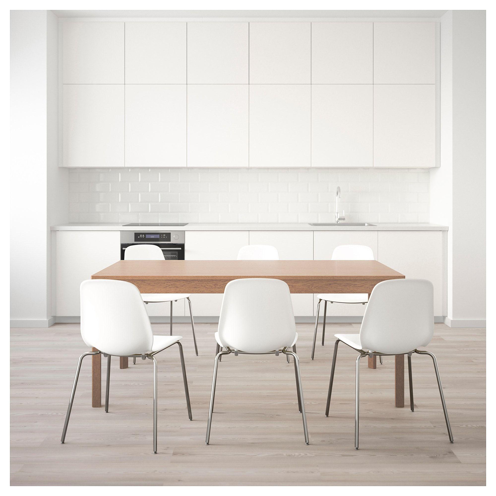 Ekedalen Leifarne Tisch Und 6 Stuhle Eiche Weiss Heute Noch Bestellen Ikea Osterreich Esszimmer Mobel Tisch Stuhl Eiche