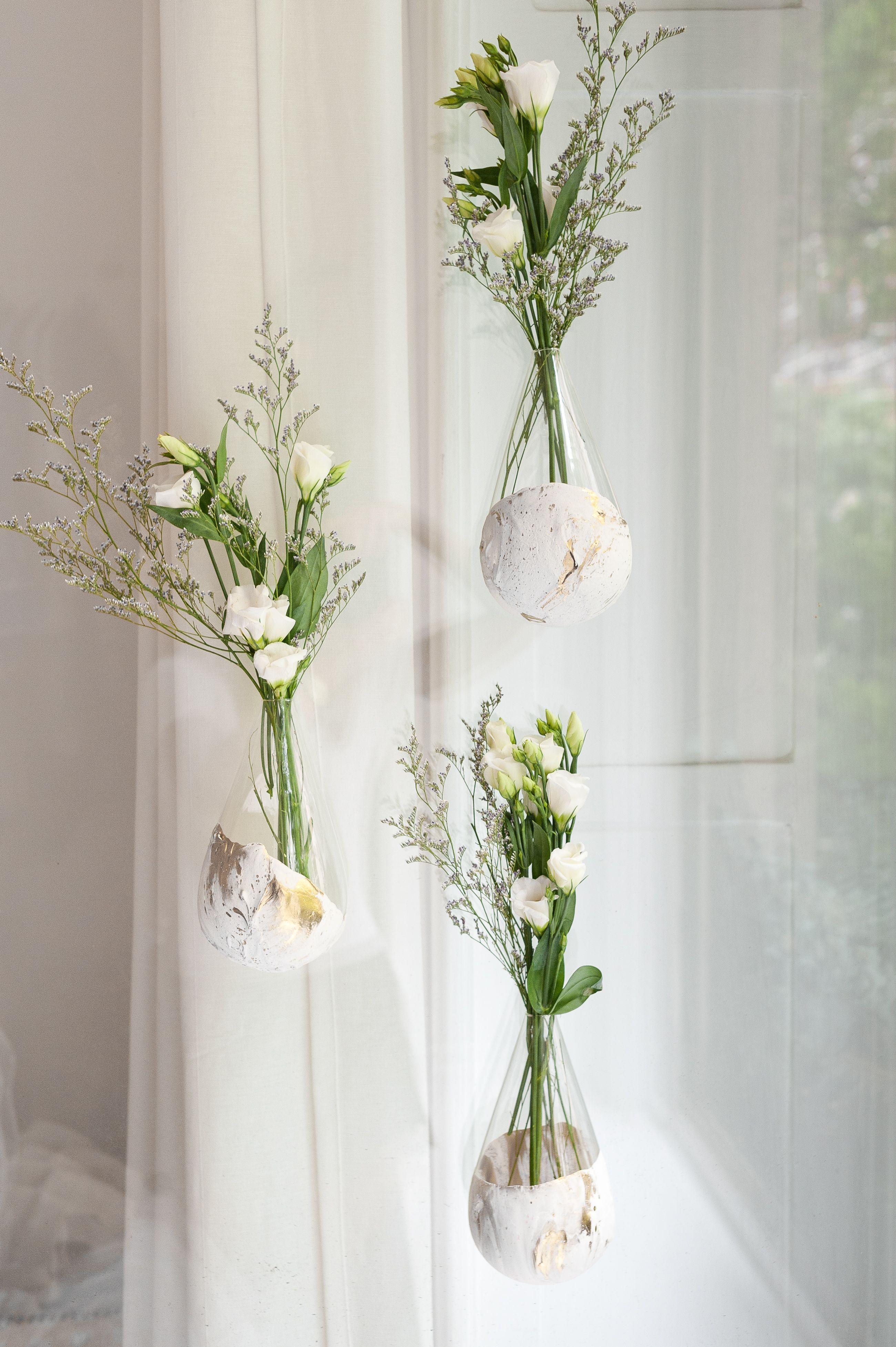 Get Creative Make A Marbled Plaster Hanging Vase For Wall Window Hanging Vases Inside Plants Decor Vase
