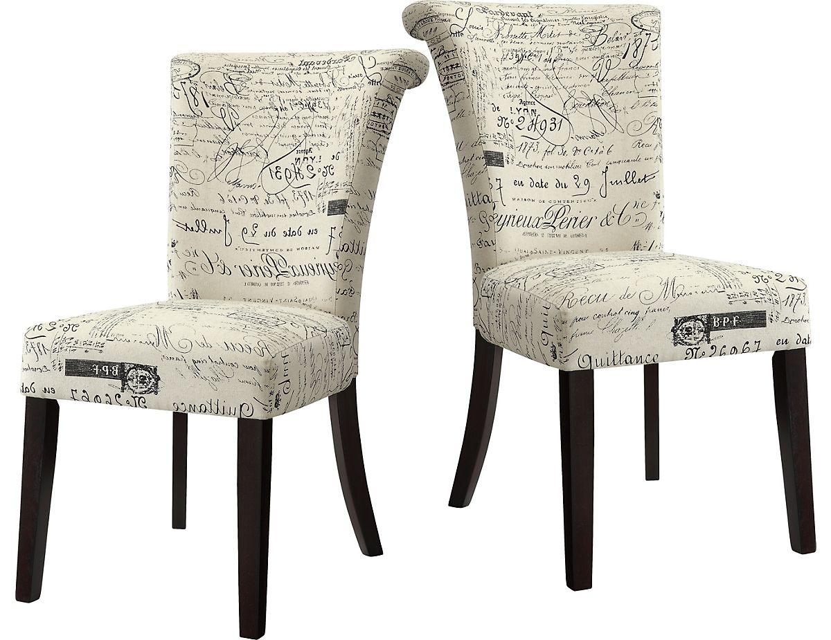French Script Dining Chairs From The Brick Dining