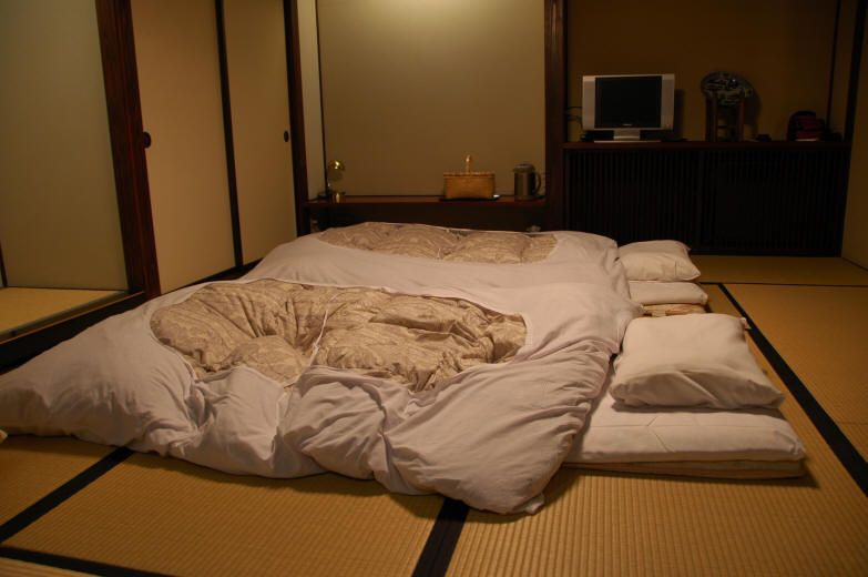 Traditional Japanese Bedding Our Beds For The Night The Traditional Japanese Futon Not