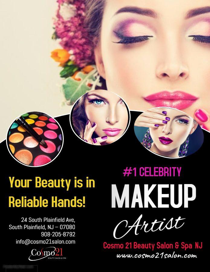 Celebrity Makeup Artist Nj Usa Cosmo21salon Spa Is A Best Beauty