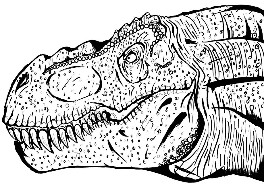 T Rex Coloring Pages - coloring.rocks!   Coloring rocks ...