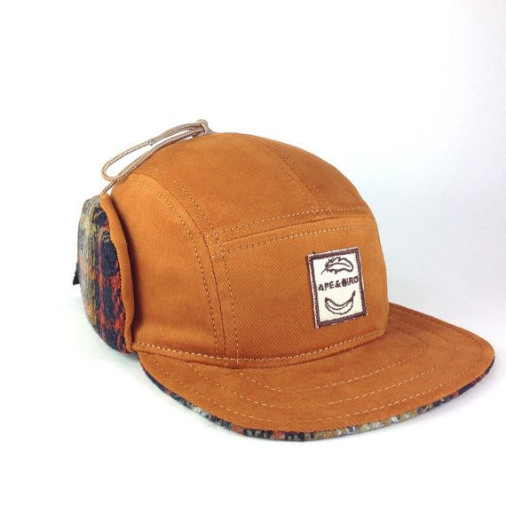 532f4a0268a Winter five panel flap camp cap. Winter hats with awesome and functional  ear flaps. Super fly looking but also practical and warm. Keep up or wear