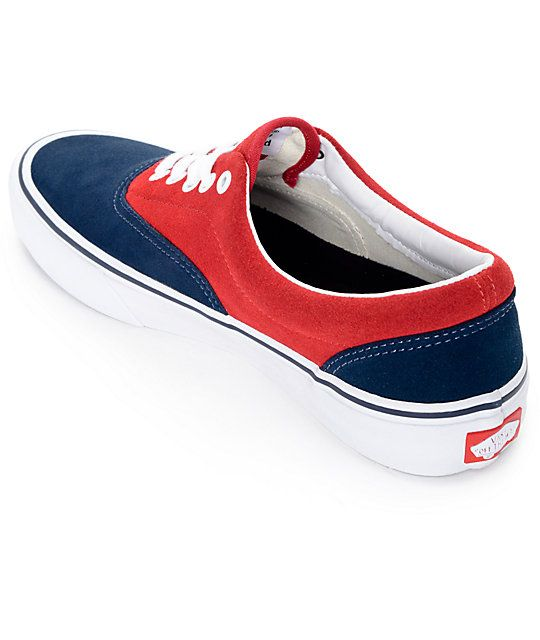 7f577c09 Vans Era Pro 50th Navy and Red Skate Shoes (Mens) | Shoes, Boots ...