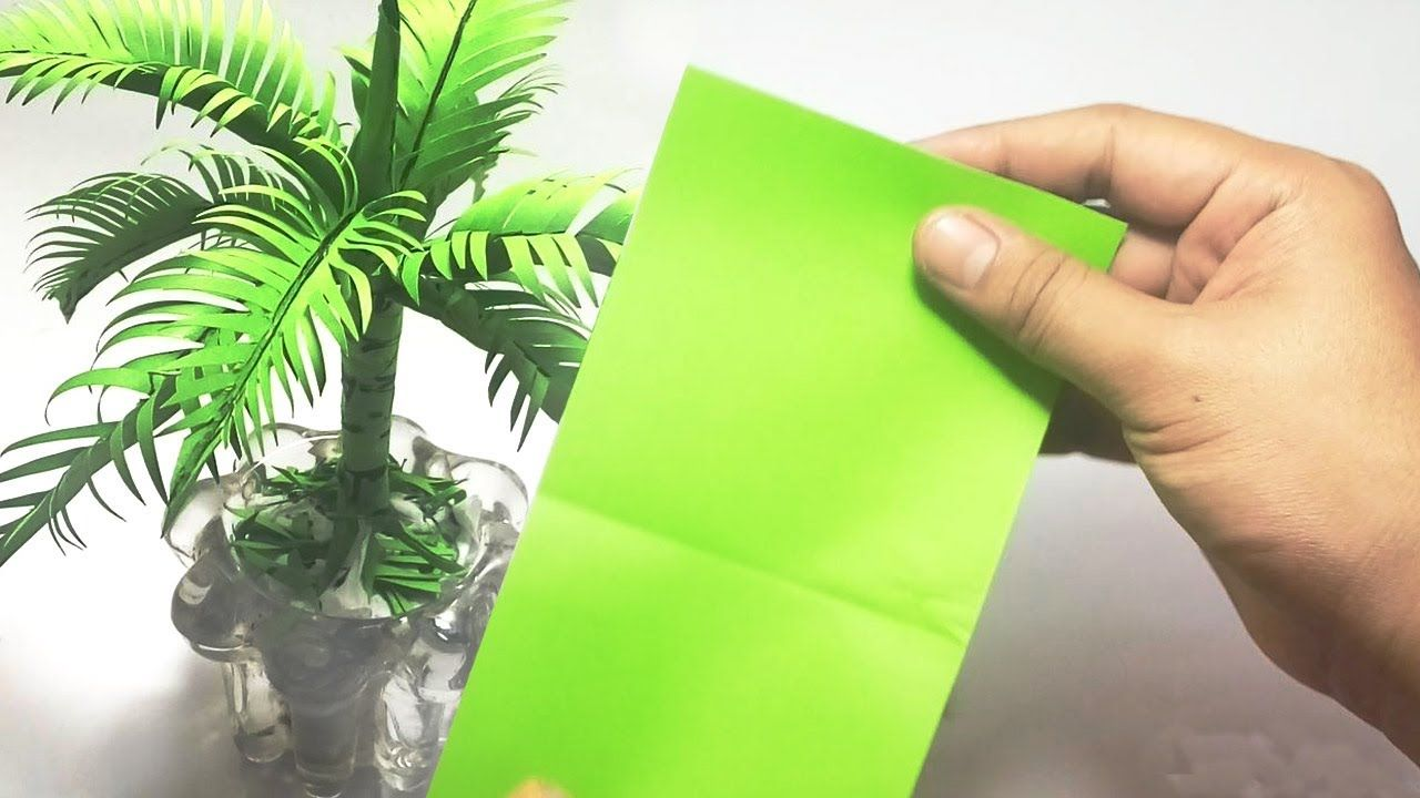 How To Make A Coconut Tree From Origami Paper For Living Room
