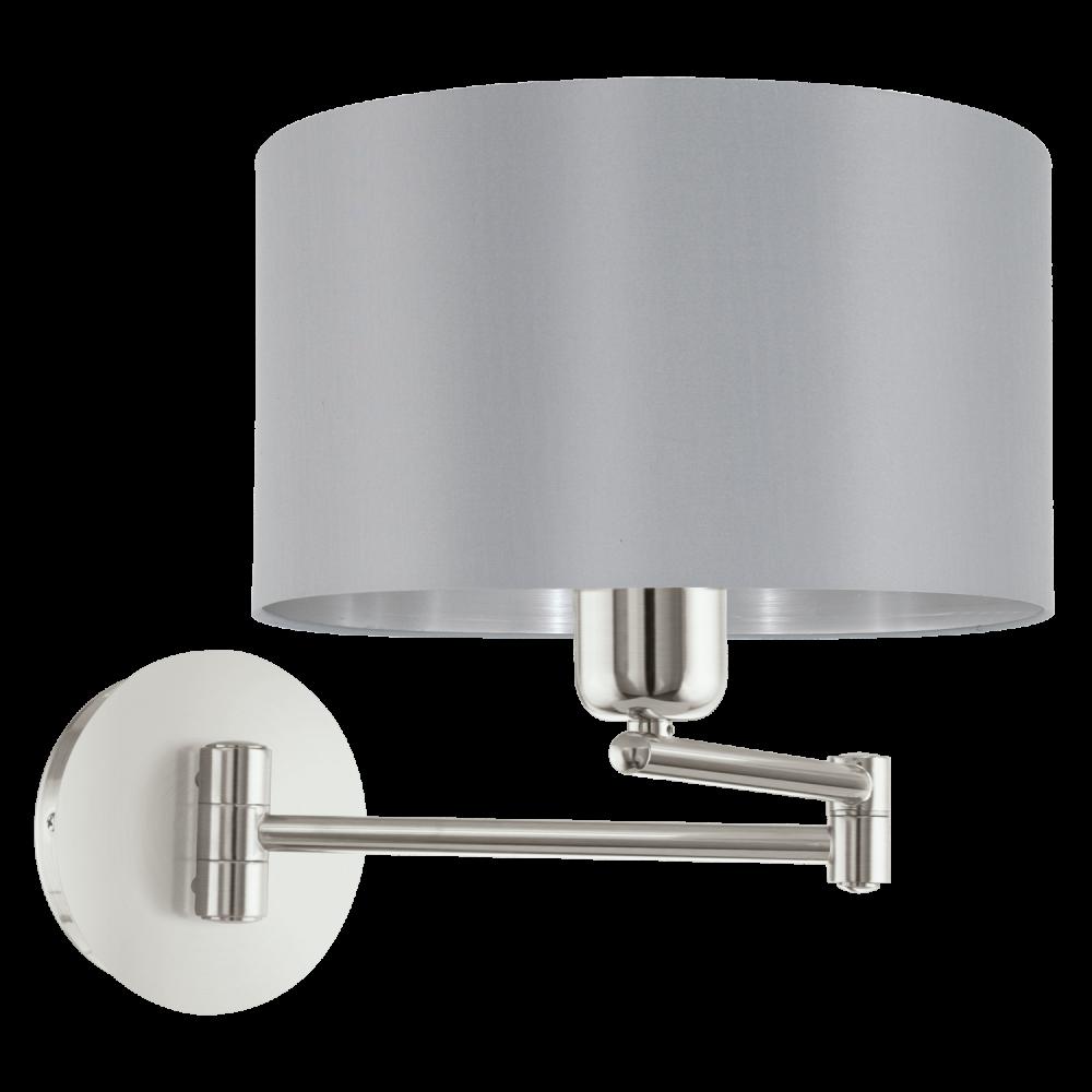 Eglo 95057 maserlo 1 light switched wall light glossy grey eglo 95057 maserlo 1 light switched wall light glossy grey aloadofball Choice Image