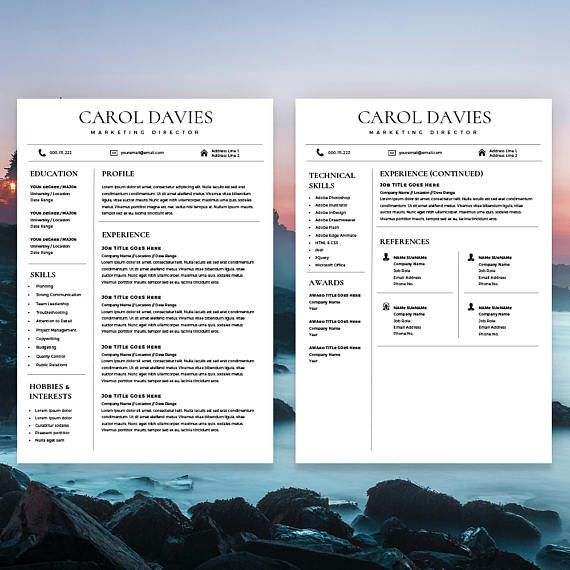 Modern Resume Template and Cover Letter, one of our successful