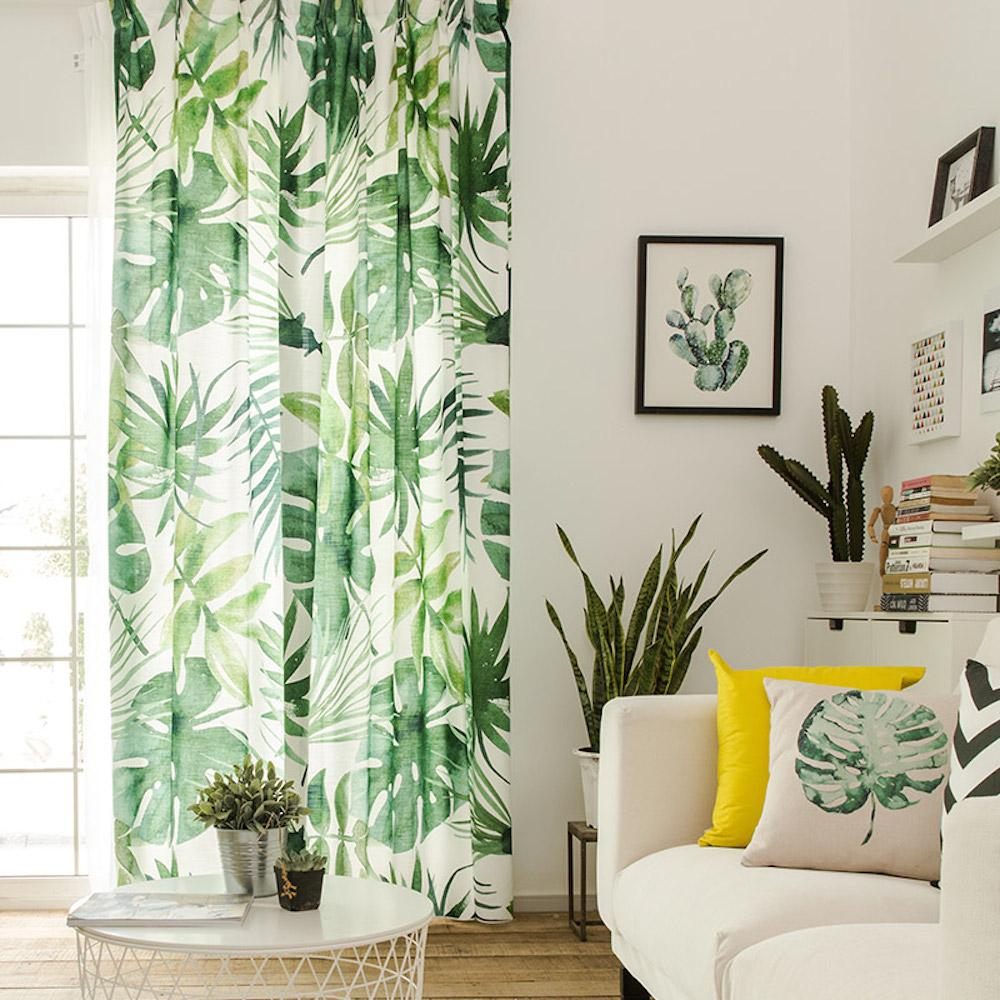 Drapes With Tropical Leaves Tropical Home Decor Tropical Living