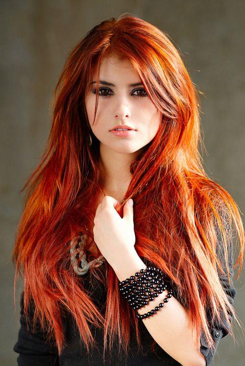 Reflets Rouges, Coloration Cheveux, Cheveux Cuivré, Longs Cheveux Roux,  Couleur Cheveux,