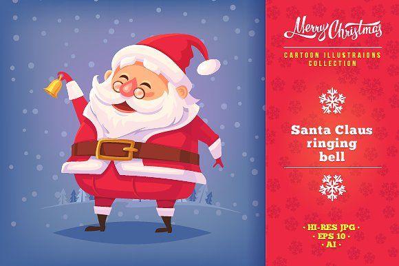 e468e39282 Cartoon Santa Claus illustrations by painterr on  creativemarket ...