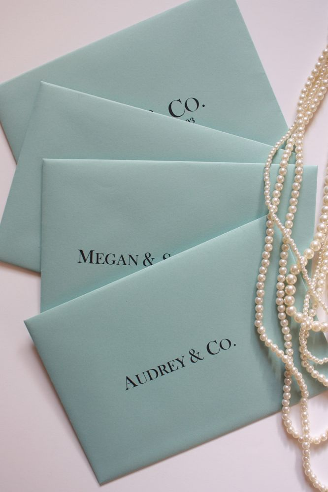 breakfast at tiffany s themed party invitations by erika keuter