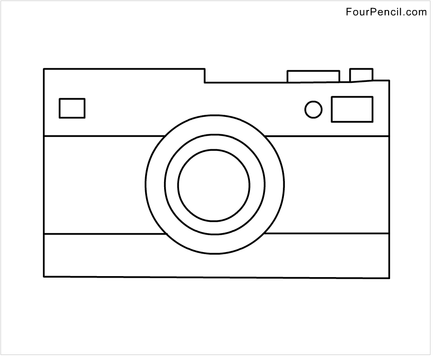 Free Camera coloring pages PRO ryhmn kuvis Pinterest