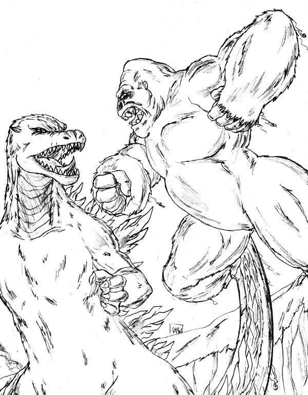 King Kong Coloring Pages Here Are The Ten Best That Your Child Will Enjoy Painting
