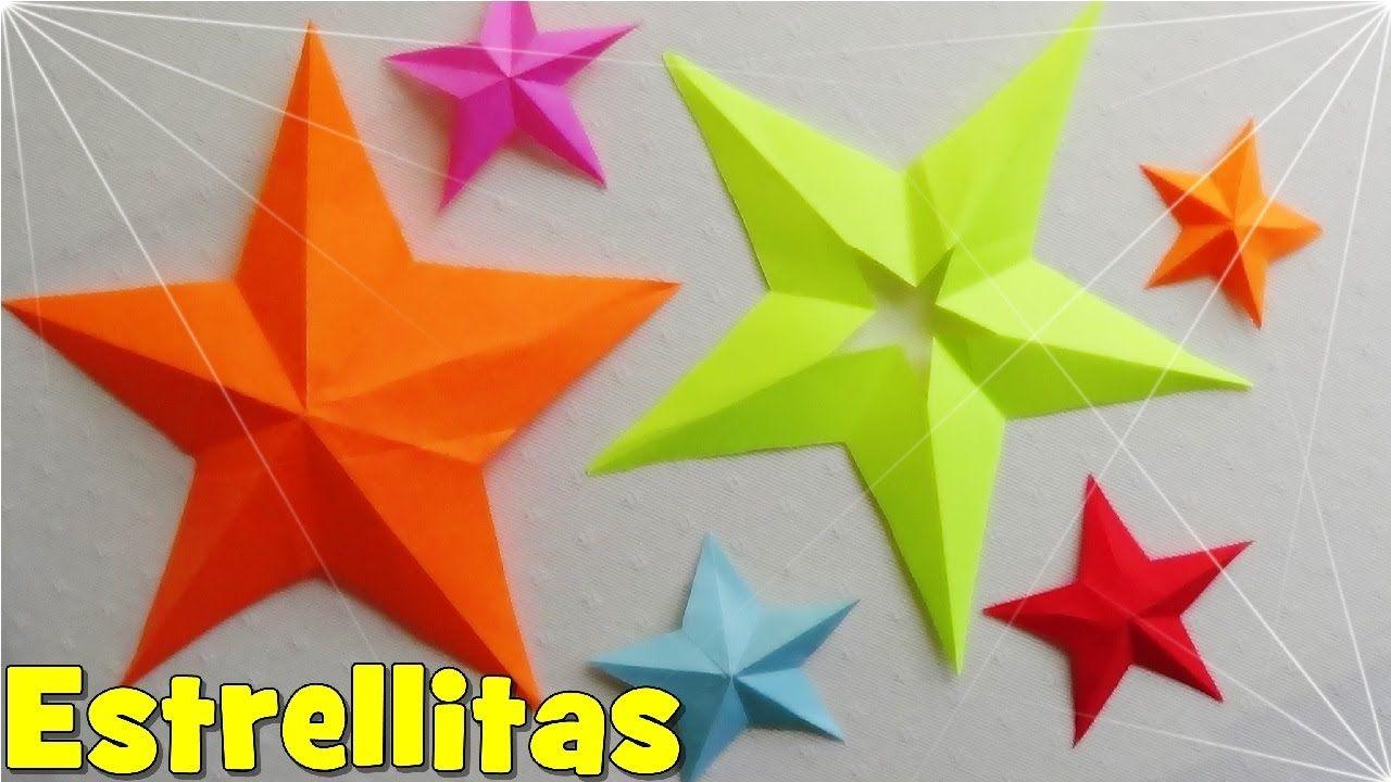 Como Hacer Una Estrella De Papel De 5 Puntas Estrellas De Papel Origami Navideno Estrellas De Navidad