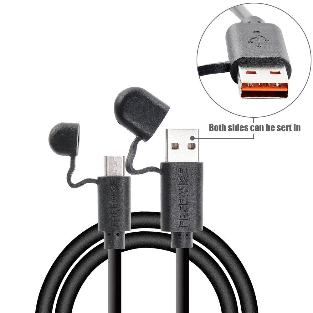 Amazon.com: FREEWISE Reversible Micro USB 2.0 Double Sided Charger and Data Sync Cable Protective Cover 3.3ft and 6ft for Android Phone with Storage Bag: Cell Phones & Accessories