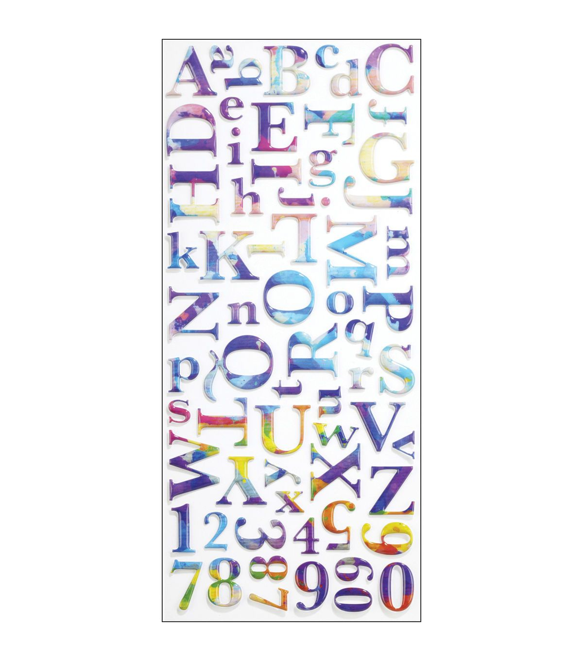 Sticko Alphabet Stickers Watercolor Products Pinterest