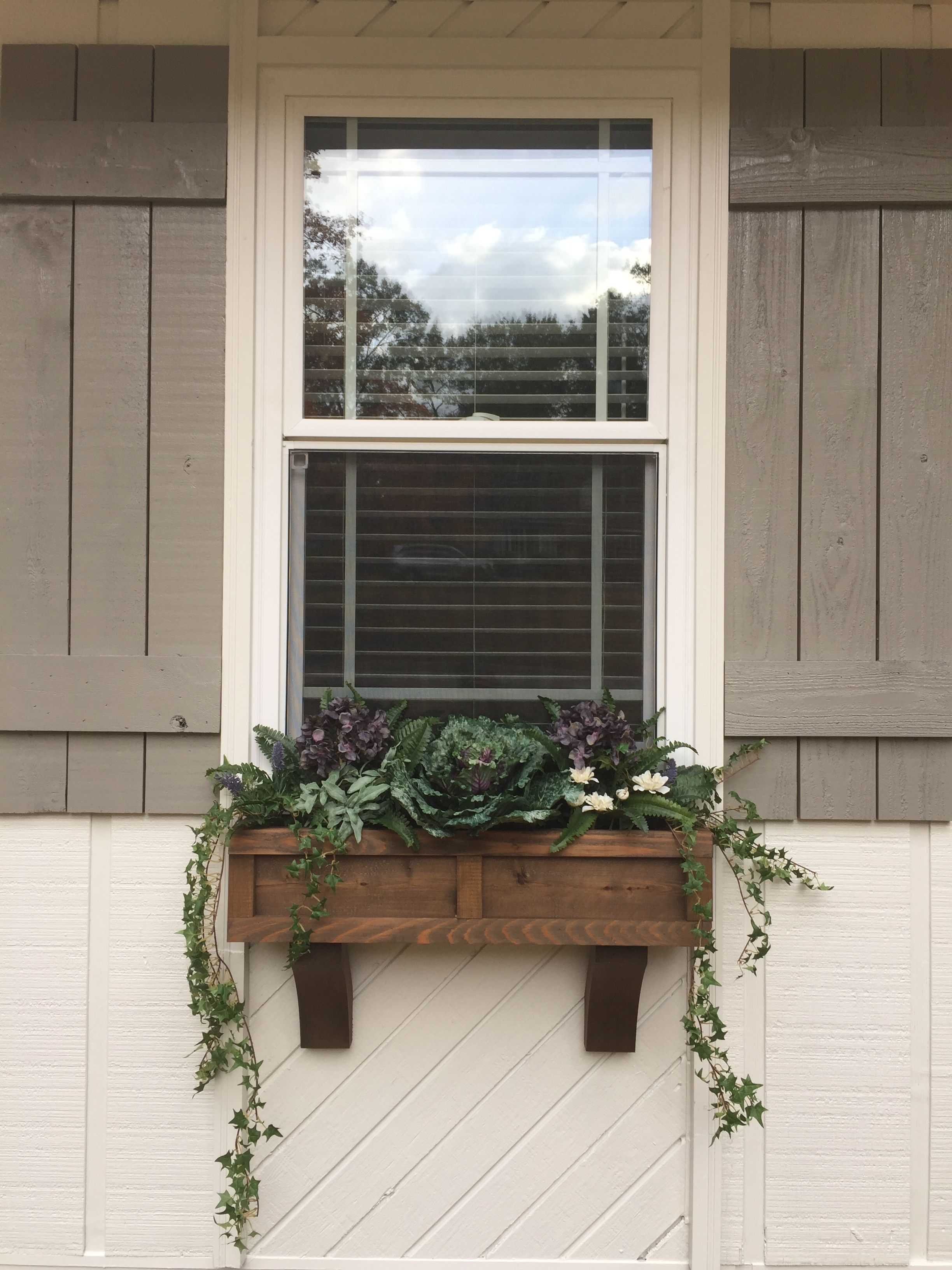 My Winter Window Boxes Are Complete Love Them In 2020 Winter Window Boxes Window Boxes Diy Cedar Window Boxes