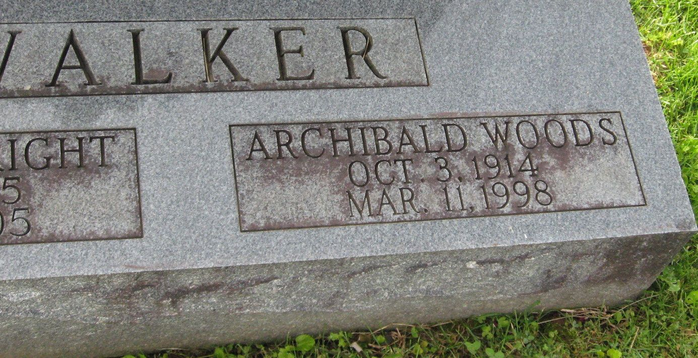 Archibald Woods Walker Sr Son Of Walter And Annie Walker Former