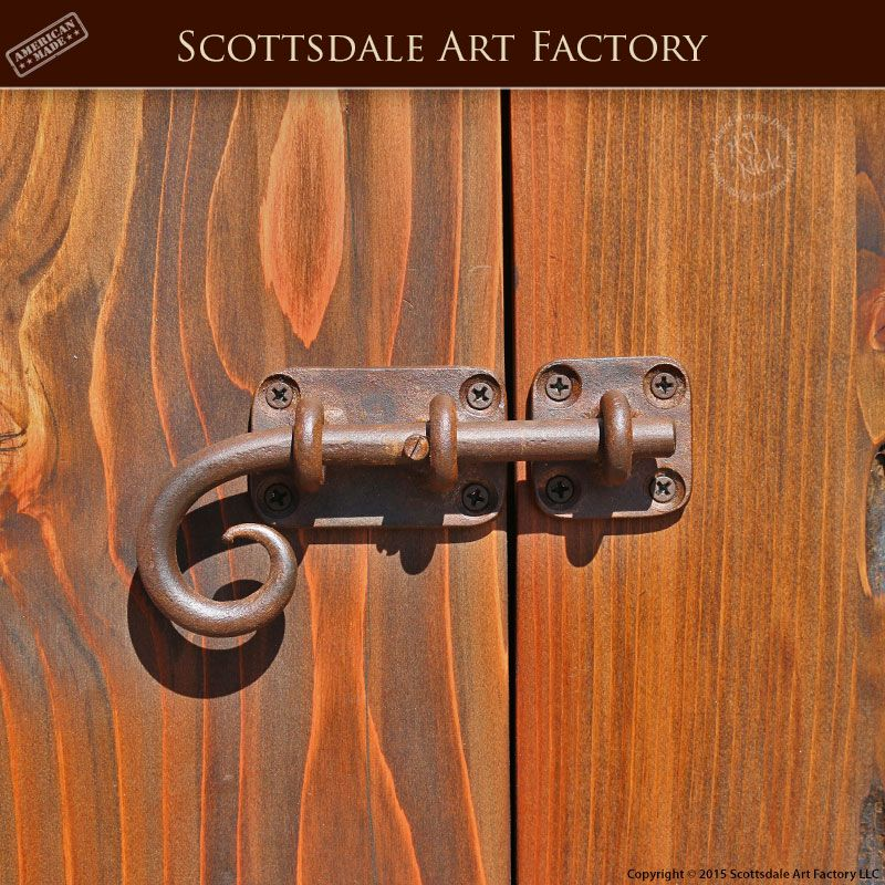 Slide Bolt Hh420 Iron Door Hardware Custom Handcrafted In Any Size And Style