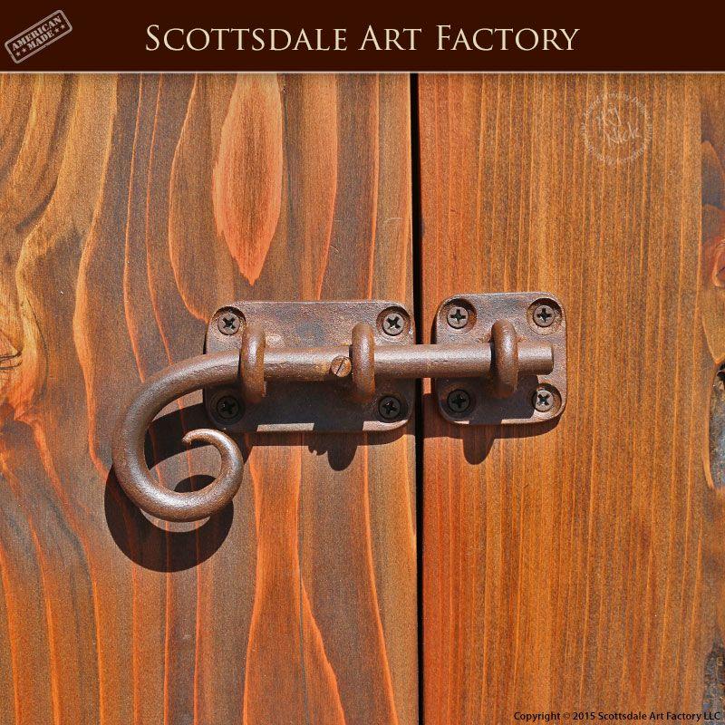 Custom Hand Forged Slide Bolt Custom Wrought Iron Door Hardware