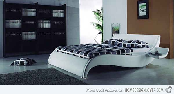 15 stylistic curved platform beds
