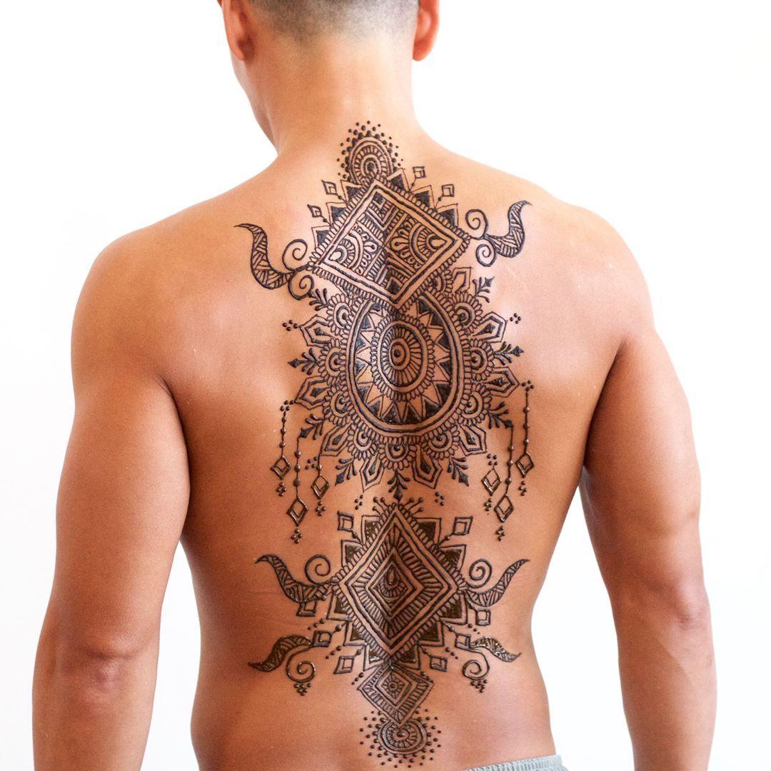 Mehndi Mehndionman Mehndionback Tattoos I Want Henna Men
