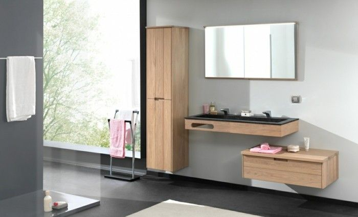 La colonne de salle de bain, nos propositions en 58 photos - Salle De Bain Moderne Grise