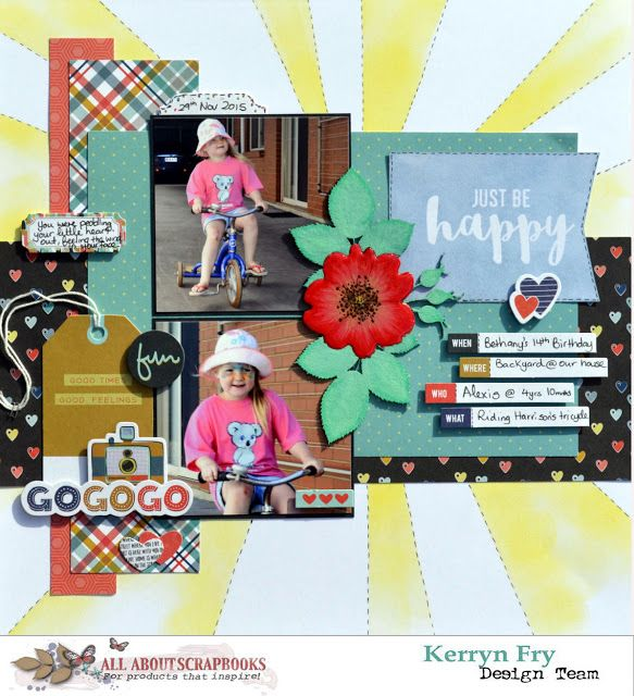All About Scrapbooks Australia Just Be Happy With Fancy Pants