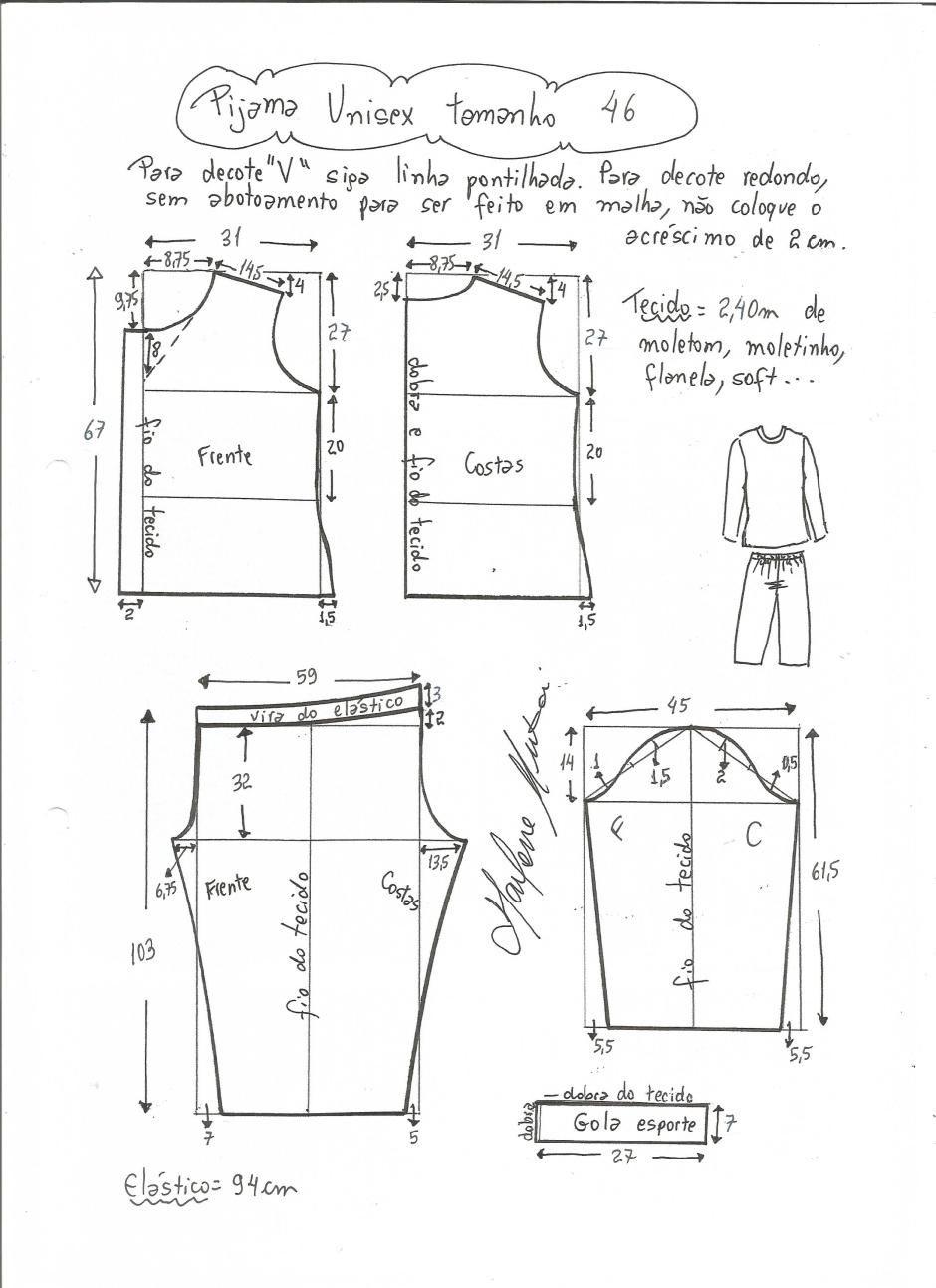 pijama-unisex-46 | Uniformes modernos | Pinterest | Hacer ropa ...