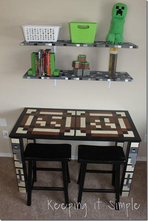 Boys Homework Station Diy Minecraft Crafting Table Keeping It Simple Craft Table Diy Homework Station Diy Craft Table