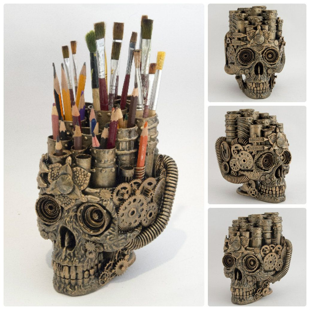 Steampunk Skull Etsy Steampunk Pinterest Skulls: steampunk home ideas