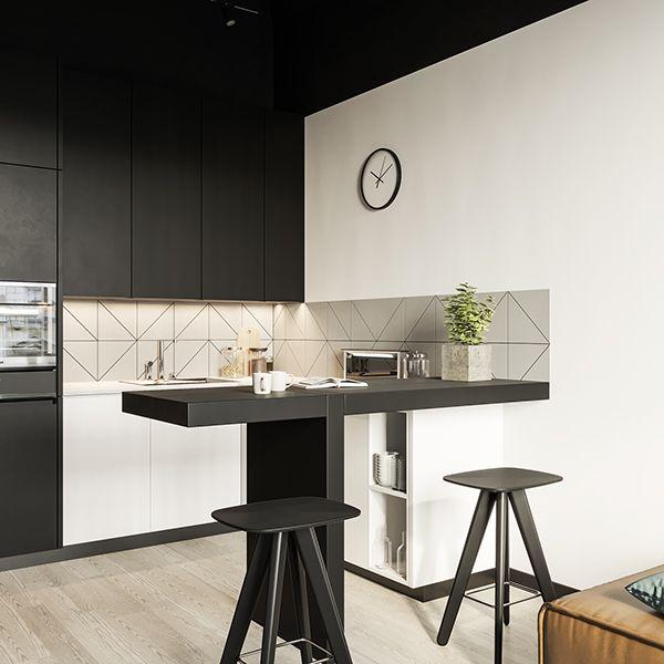 LOFT on Behance  interiores casa  Barras de cocina