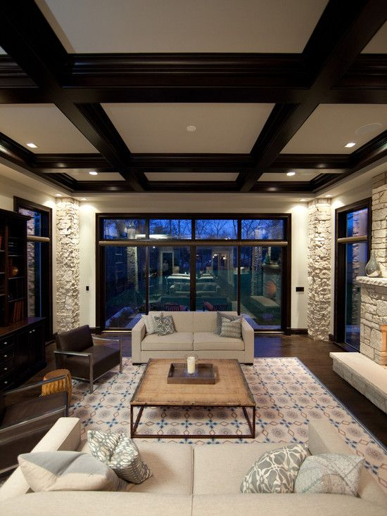 Es Black Coffered Ceiling Design Pictures Remodel Decor And Ideas Page 3