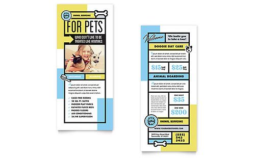Rack Card Templates InDesign Illustrator Publisher Word - Rack card template publisher