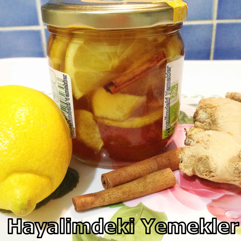 Bitkisel Antibiyotik ( zencefil,limon,bal,tarçın)   Resimli Yemek Tarifleri Hayalimdeki Yemekler